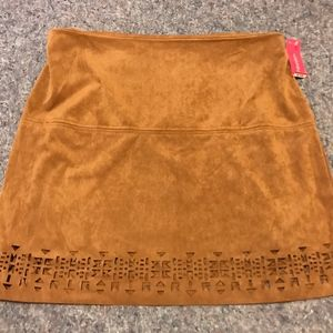 BNWT Women's Size XL Faux Suede Brown Skirt